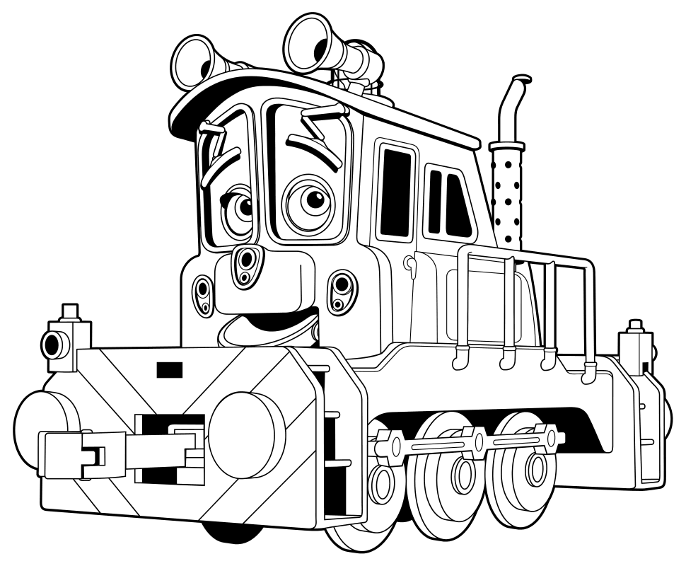 Раскраска - Весёлые паровозики из Чаггингтона - Калли ...
