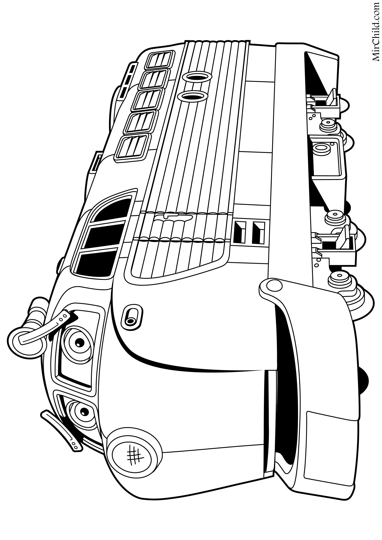 Раскраска - Весёлые паровозики из Чаггингтона - Чезворд ...