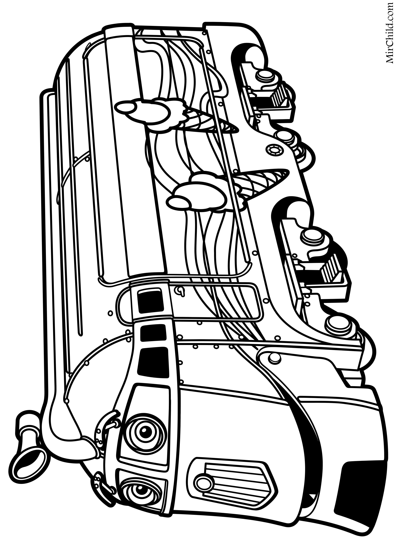 Раскраска - Весёлые паровозики из Чаггингтона - Фростини ...