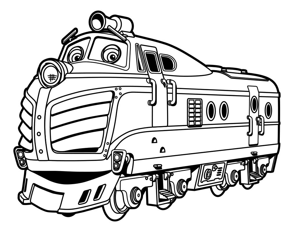 Раскраска - Весёлые паровозики из Чаггингтона - Гаррисон ...