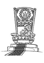 Раскраска Вовка на троне