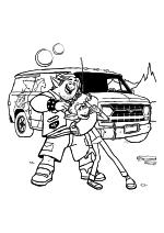 Раскраска - Вперёд - Барли, Иэн и Фургон Гвиневра