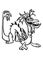 Раскраска - Вперёд - Домашний дракон Жгуня