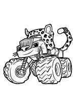 Раскраска - Вспыш и чудо-машинки - Крушила - Леопард