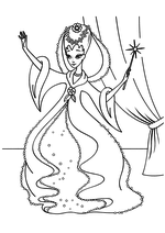 Раскраска Фея крёстная Золушки