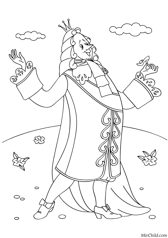 Раскраска - Золушка - Король | MirChild
