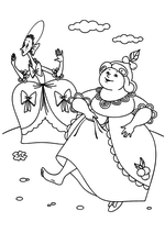 Раскраска Сёстры Золушки