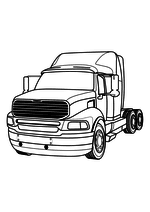 Раскраска - Грузовые автомобили - Седельный тягач - Sterling Silverstar