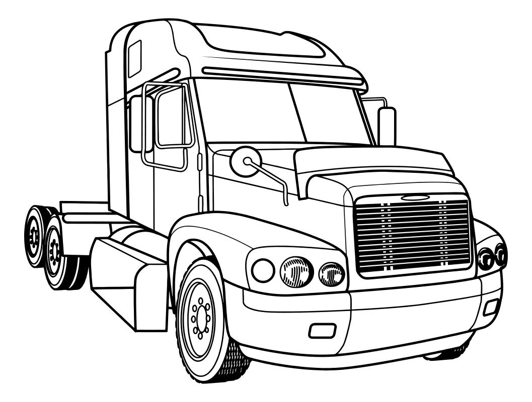 раскраска грузовые автомобили тягач Freightliner