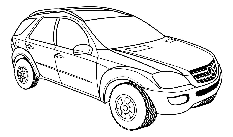Раскраска - Легковые автомобили - Среднеразмерный ...