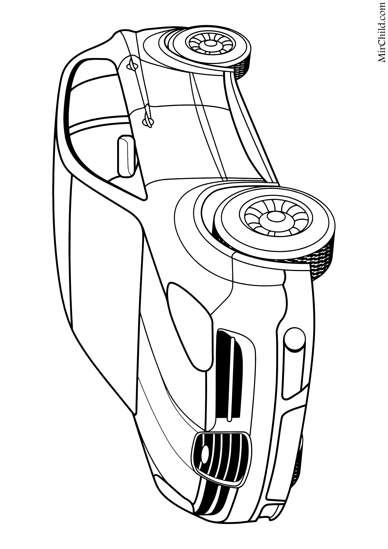раскраска легковые автомобили среднеразмерный кроссовер