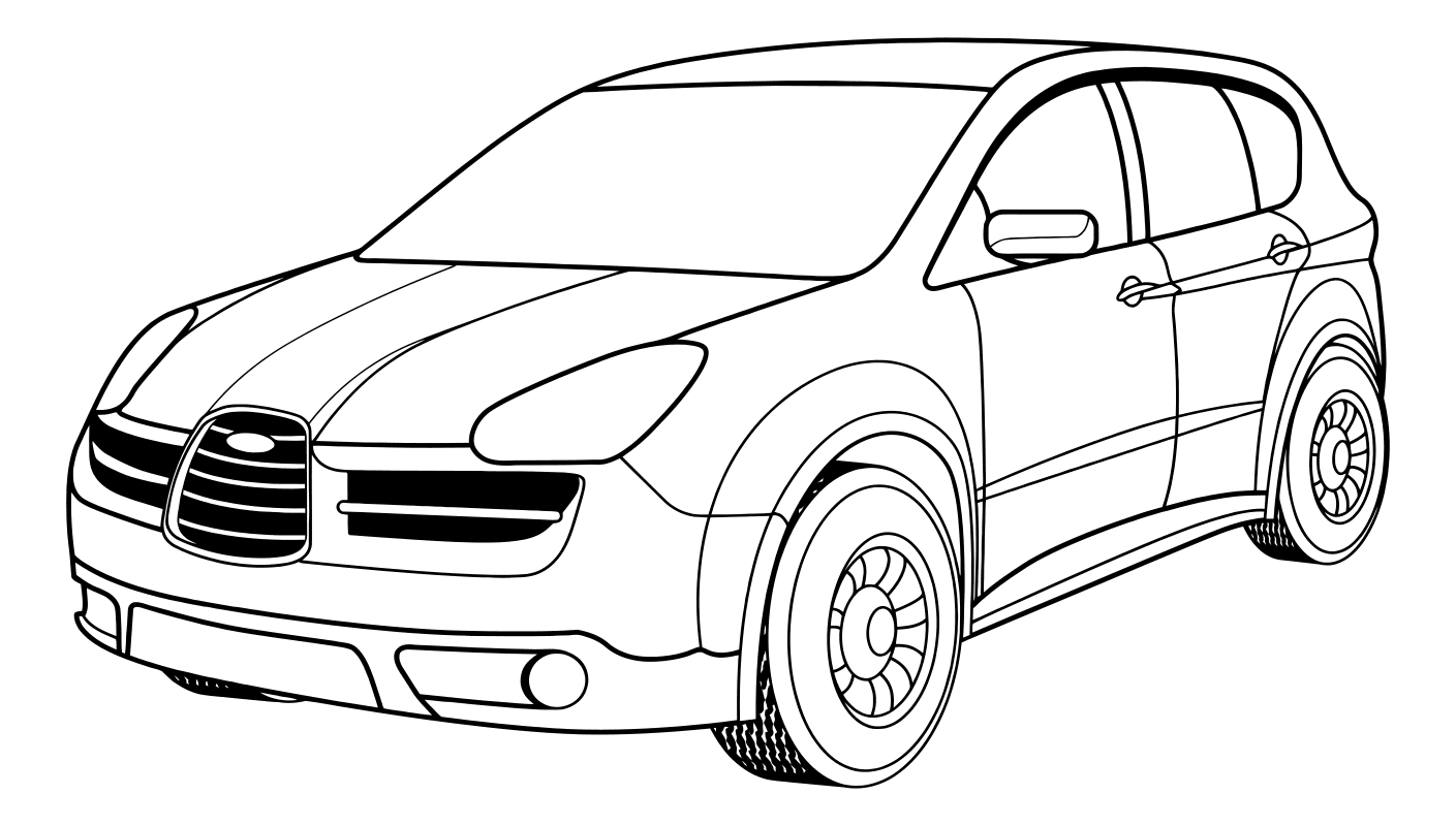 Раскраски машины субару импреза