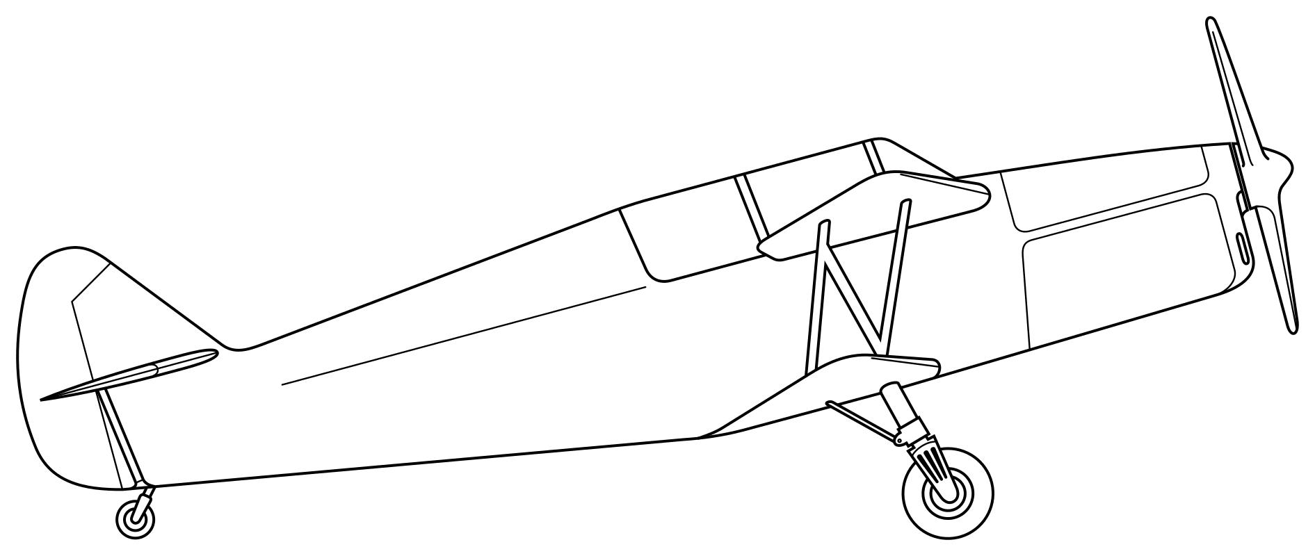 Раскраска Биплан AC.240