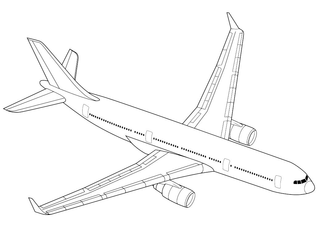 раскраска самолет картинки