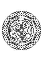 Раскраска - Мандалы - Мандала 5