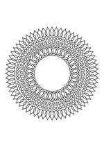 Раскраска - Мандалы - Мандала 7