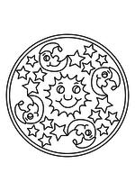 Раскраска - Мандалы - Мандала 25 - Небо