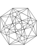 Раскраска - Математические фигуры - Ортогональная проекция икоситетрахора