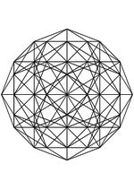 Раскраска - Математические фигуры - Ортогональная проекция гекзакосихора