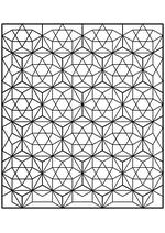 Раскраска - Математические фигуры - Плитка из проекций ромбокубооктаэдров
