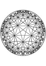 Раскраска - Математические фигуры - Звёзды на плоскости Лобачевского