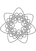 Раскраска - Математические фигуры - Диаграмма Венна для семи множеств