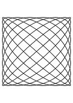 Раскраска - Математические фигуры - Фигура Лиссажу 9:8