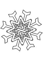 Раскраска - Снежинки - Снежинка 2