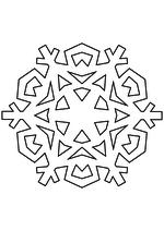 Раскраска - Снежинки - Снежинка 4