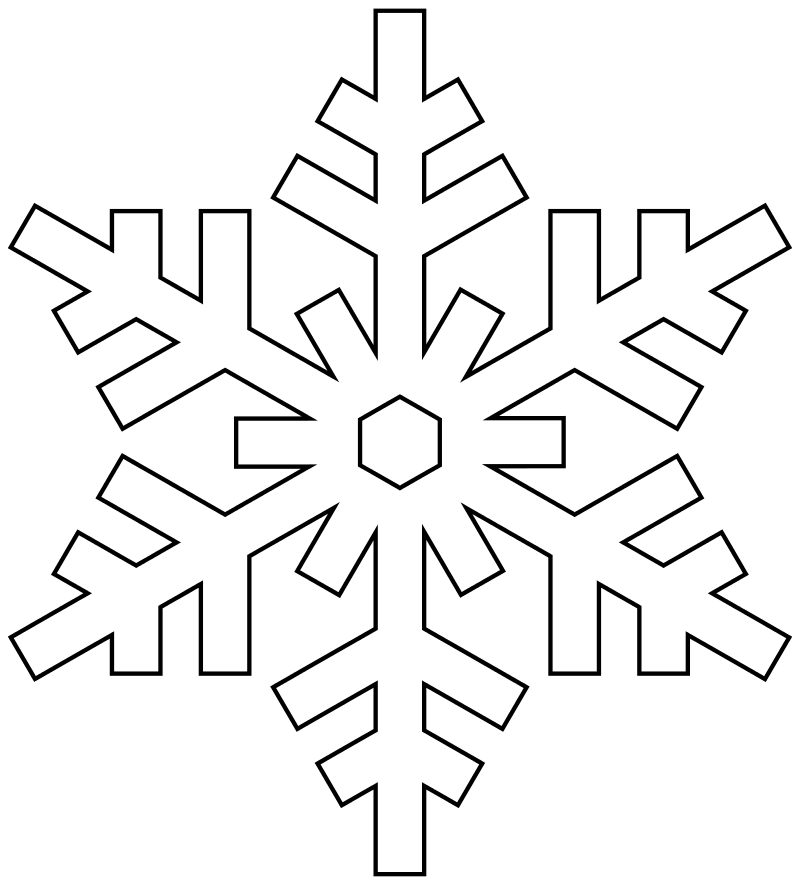 Снежинка в раскрасках