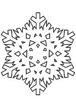 Раскраска - Снежинки - Снежинка 21