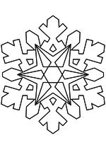 Раскраска - Снежинки - Снежинка 24