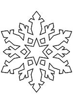 Раскраска - Снежинки - Снежинка 28