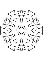 Раскраска - Снежинки - Снежинка 38