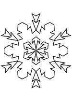 Раскраска - Снежинки - Снежинка 51