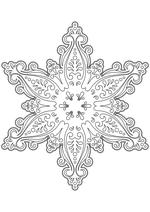 Раскраска - Снежинки - Узорная снежинка 1