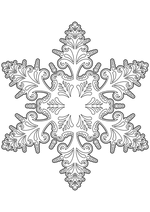 Раскраска - Снежинки - Узорная снежинка 2
