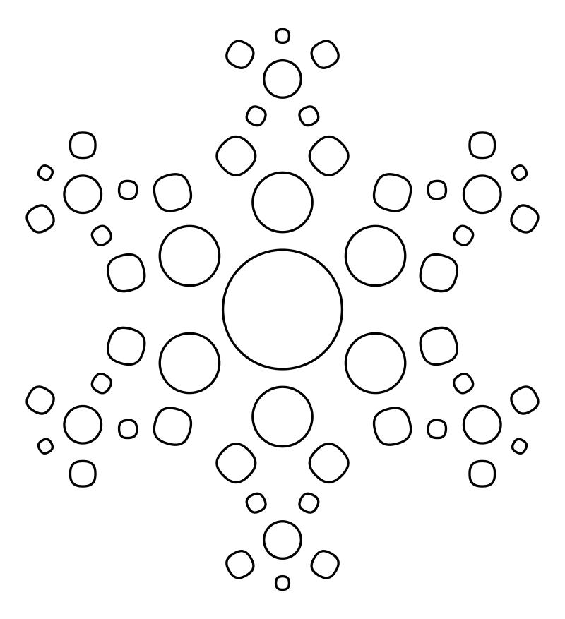 данной области картинка снежинки соединения по точке форматируется, неё