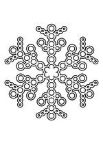 Раскраска - Снежинки - Ажурная снежинка из кругов 8
