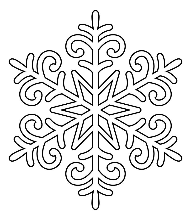 Снежинки в картинках для раскрашивания