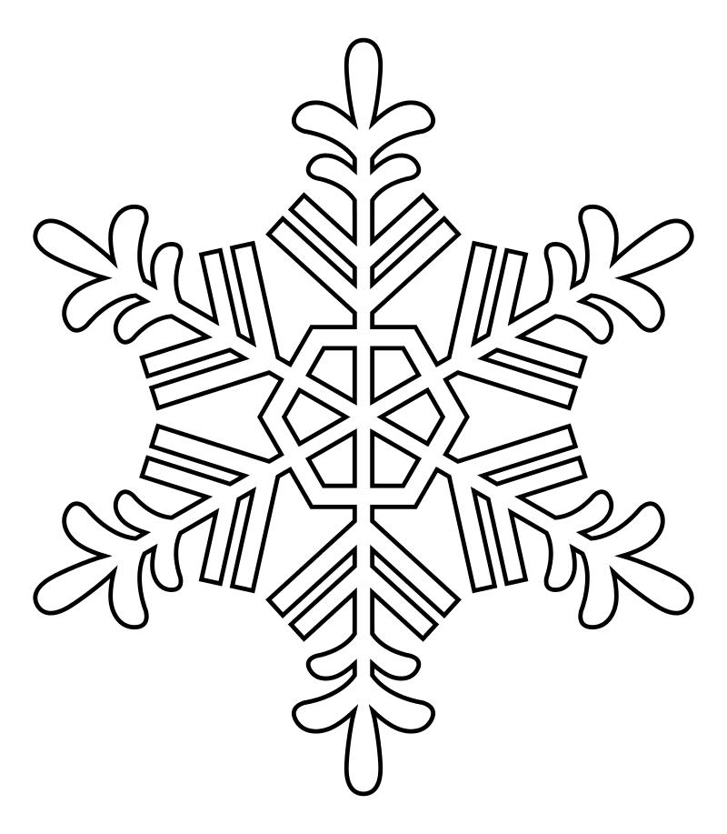 Осликом день, снежинки в картинках для раскрашивания