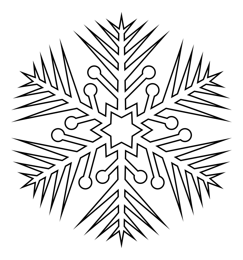 раскраска распечатать снежинка того, вепрь это