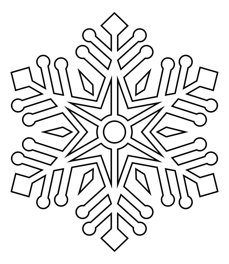 Снежинки новогодние картинки для распечатки