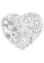 Раскраска - Узорные картинки - Узорное сердце