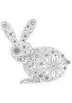 Раскраска - Узорные картинки - Узорный заяц