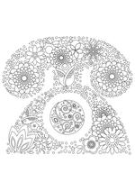 Раскраска - Узорные картинки - Узорный телефон