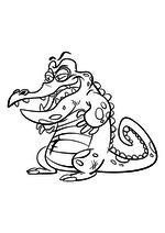 Раскраска - Крокодильчик Свомпи - Крэнки