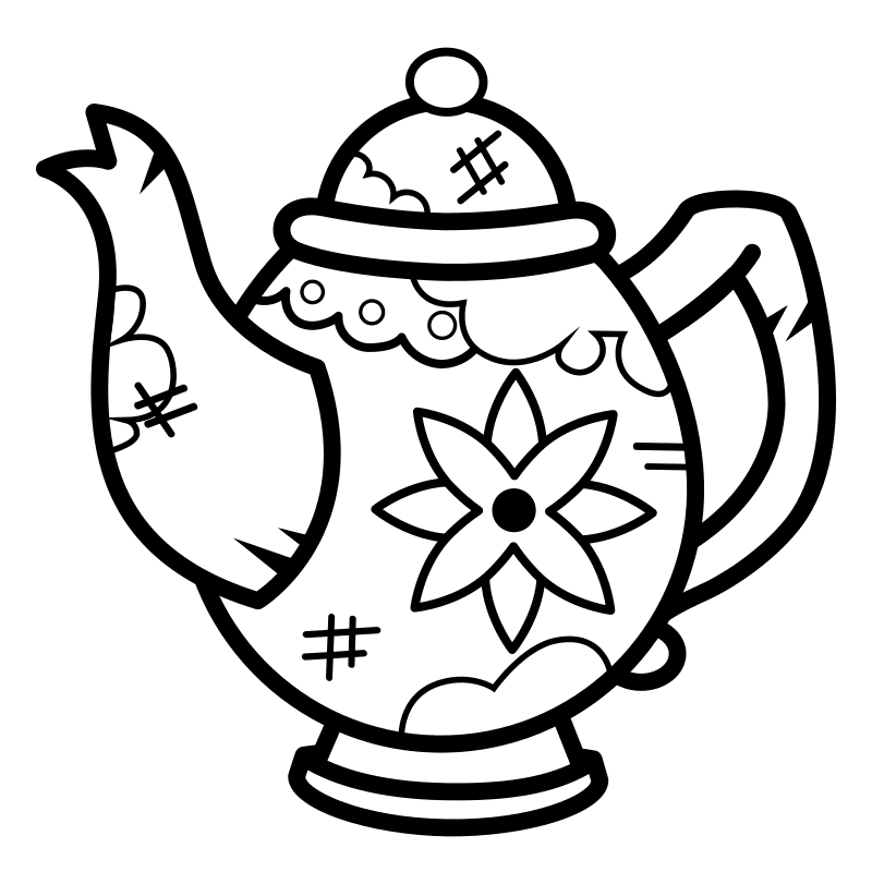 Раскраска - Крокодильчик Свомпи - Мамин чайник