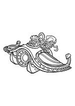 Раскраска - Скайлендеры - Найтфолл в Си Шэдоу