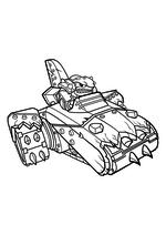 Раскраска - Скайлендеры - Террафин в Шарк Танке
